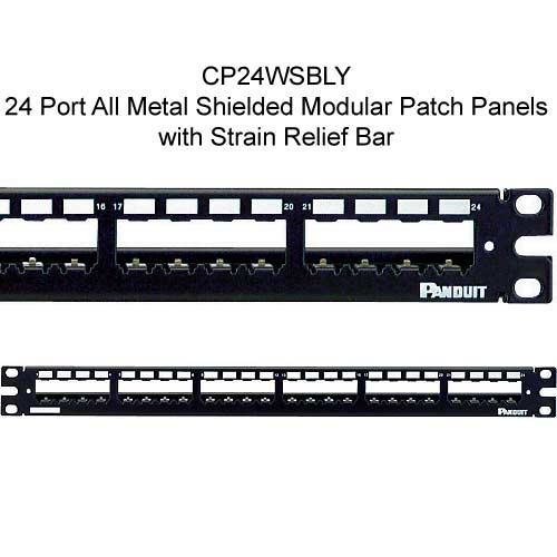 Panduit Mini-Com 24 port All Metal Shielded Modular Patch Panel with strain relief bar - icon
