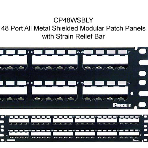 Panduit Mini-Com 48 port All Metal Shielded Modular Patch Panel with strain relief bar - icon