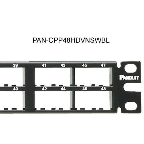 close up of Panduit Mini-Com High Density 48 port Modular Patch Panels - icon