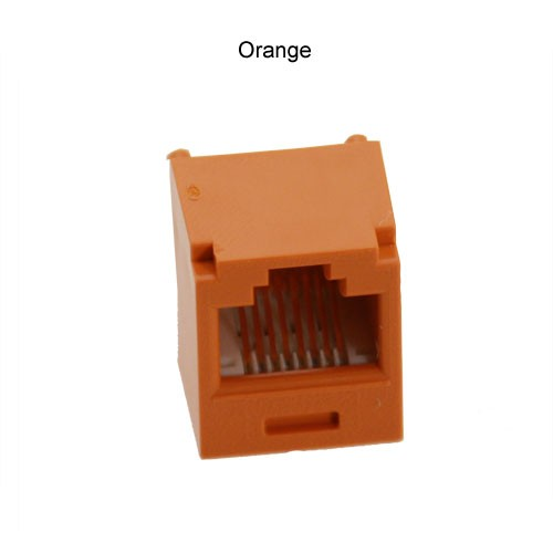 Panduit Mini-Com connection jack in orange