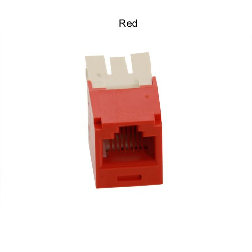 Panduit Mini-Com CAT5e and CAT6 Jack in red