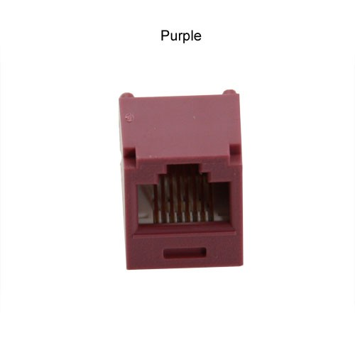 Panduit Mini-Com connector jack in purple
