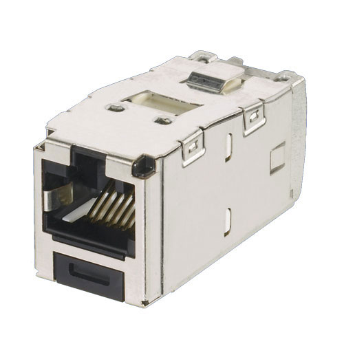 Panduit Mini-Com TX5e and TX6A Keyed Shielded Module in black - icon