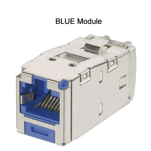 Panduit Mini-Com TX5e and TX6A Keyed Shielded Module in blue - icon