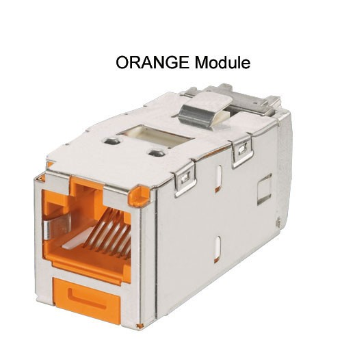 Panduit Mini-Com TX5e and TX6A Keyed Shielded Module in orange - icon