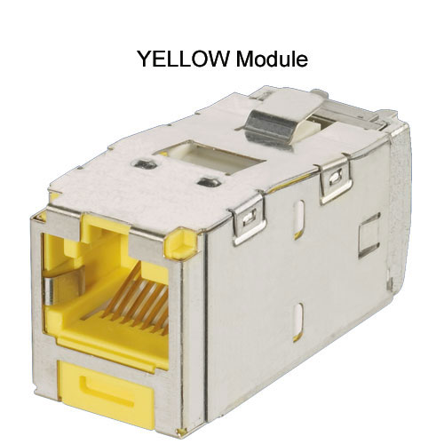 Panduit Mini-Com TX5e and TX6A Keyed Shielded Module in yellow - icon