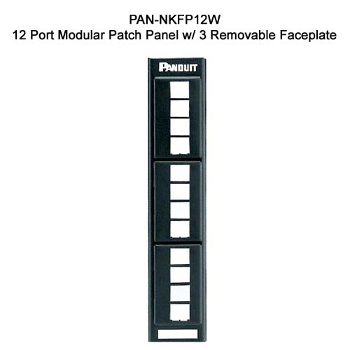 Panduit NetKey 12 port Modular Patch Panel with 3 removable faceplate - icon