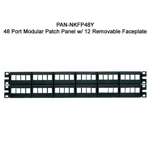 Panduit NetKey 48 port Modular Patch Panel with 12 removable faceplate - icon