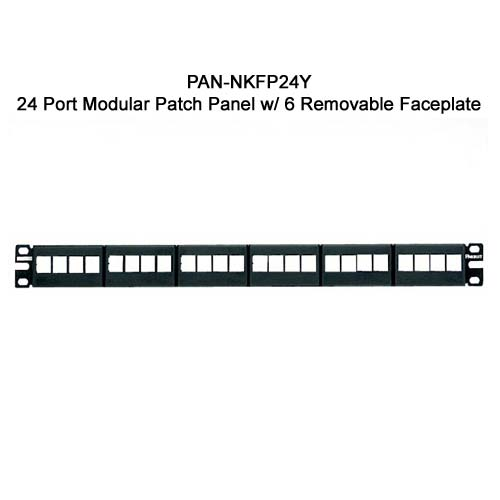Panduit NetKey 24 port Modular Patch Panel with 6 removable faceplate - icon
