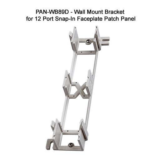 Panduit NetKey wall mount bracket for 12 port snap in faceplate patch panel - icon