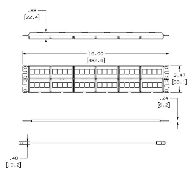 panduit rj11 wiring diagram panduit netkey    modular faceplate patch panel cableorganizer com  panduit netkey    modular faceplate