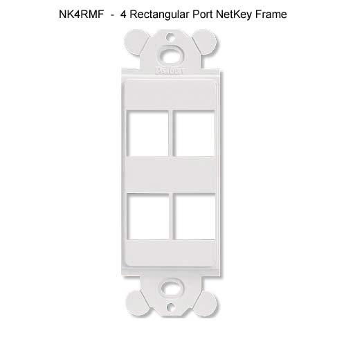 Panduit NetKey Modular Frame model nk4rmf 4 rectangular port netkey frame - icon