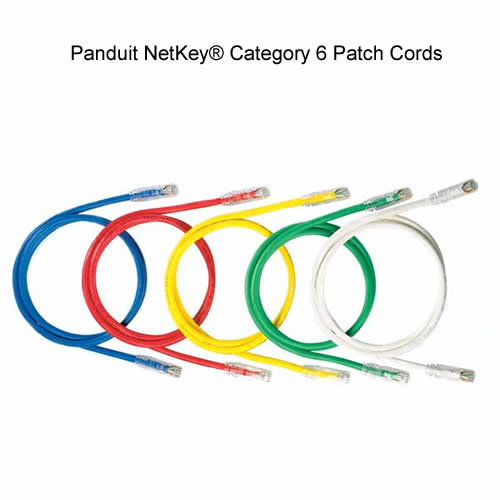 Panduit NetKey Category 6 Patch Cords in blue red yellow green and white - icon