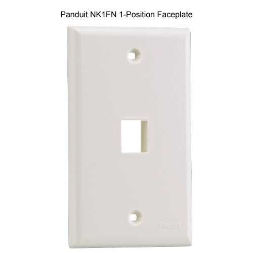 PANDUIT NetKey Flush Mount 1 position Communication Faceplate - icon