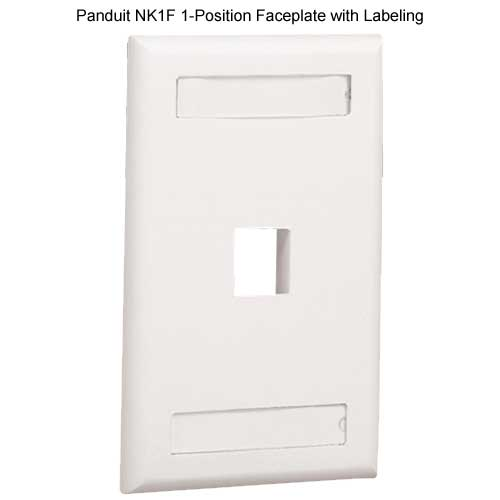 PANDUIT NetKey Flush Mount 1 position Communication Faceplate with labeling - icon
