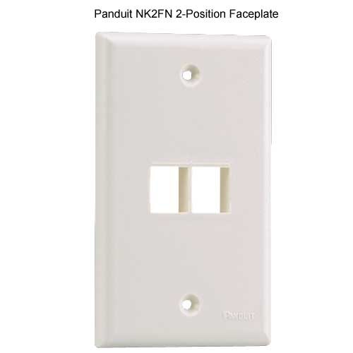 PANDUIT NetKey Flush Mount 2 position Communication Faceplate - icon