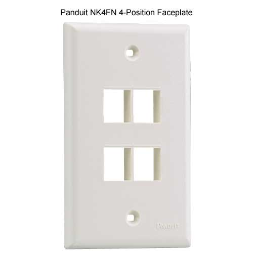 PANDUIT NetKey Flush Mount 4 position Communication Faceplate - icon