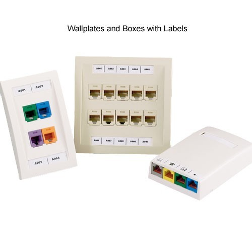 panduit P1 Network Component Labels in use on wallplates and boxes - icon