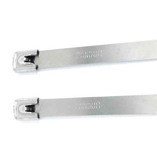 close up of Panduit PAN-STEEL Self-Locking Stainless Steel Cable Tie heads - icon