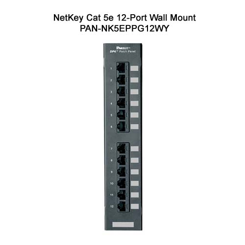 panduit netkey cat 5e 12 port wall mount punchdown patch panel - icon