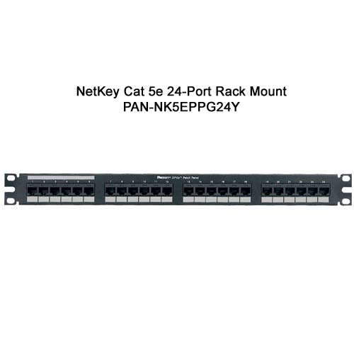 panduit netkey cat 5e 24 port wall mount punchdown patch panel - icon