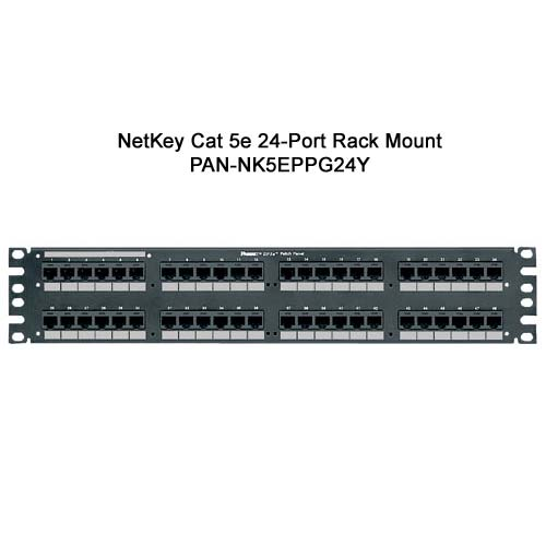 panduit netkey cat 5e 48 port wall mount punchdown patch panel - icon