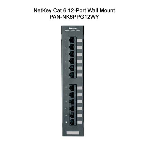 panduit netkey cat6 12 port wall mount punchdown patch panel - icon