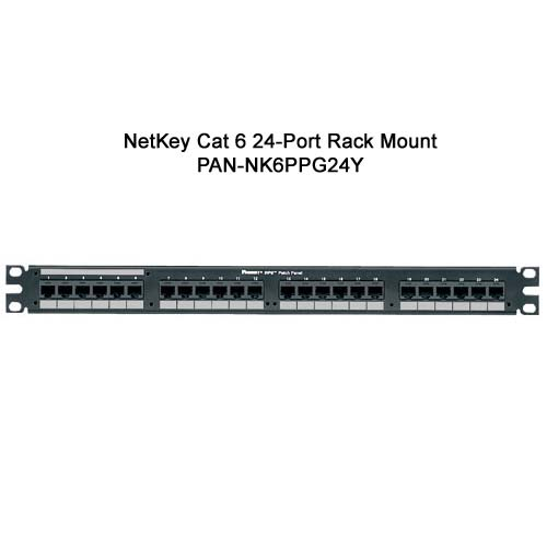 panduit netkey cat6 24 port wall mount punchdown patch panel - icon