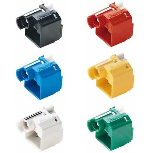 Panduit RJ45 Plug Lock-In Devices in assorted colors