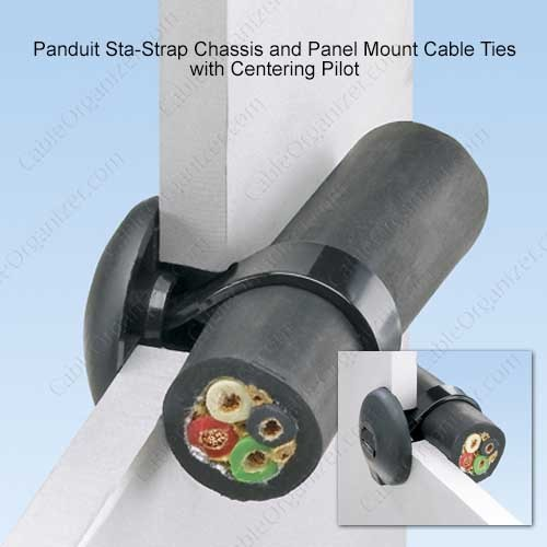 Panduit Sta-Strap Chassis with Centering Pilot Mount Tie Application - icon
