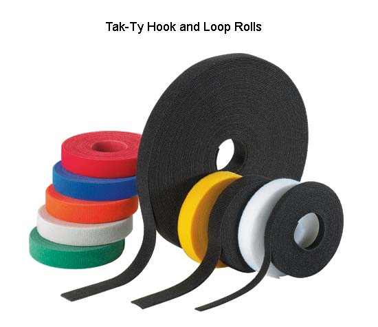 Panduit Tak-Ty Hook and Loop continuous length rolls in assorted colors - icon