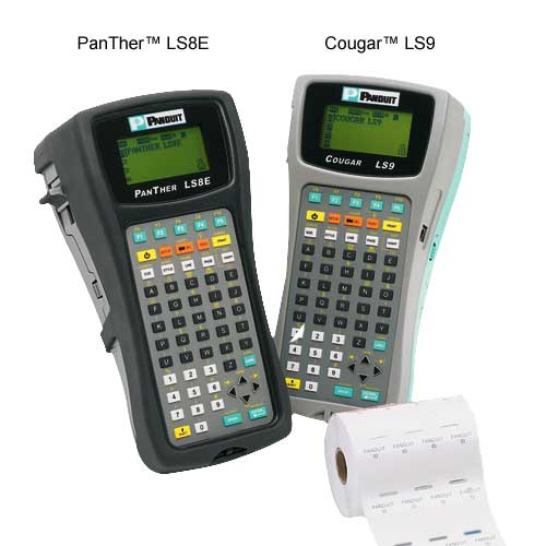 Panduit PanTher LS8 and Cougar LS9 Label Makers front views