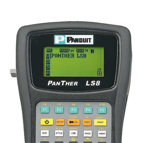 close up of Panduit LS8 Label Maker display