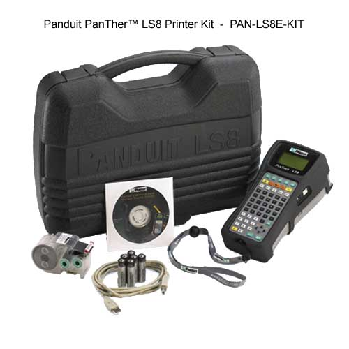 Panduit PanTher LS8 Thermal Transfer printer kit with components and case