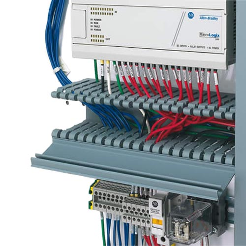 panduit Panduct Type H Hinged Cover Wide Slot Wiring Duct with cables in use - icon
