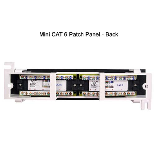 cat6 12 Port Mini-Vertical Patch Panel back view icon