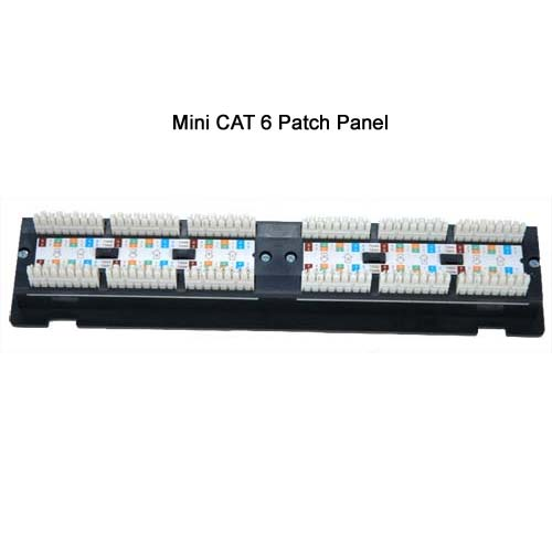 cat6 Mini-Vertical Patch Panel back view icon