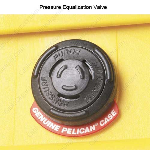 close up of pressure equalization valve on Pelican 1490 large protector Case icon