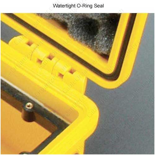 close up of watertight o-ring seal on Pelican large protector Case icon