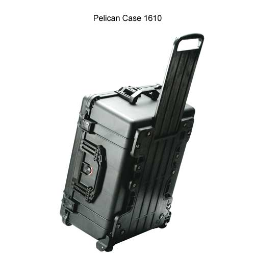 Pelican Large Protector Case with Wheels and handle extended icon
