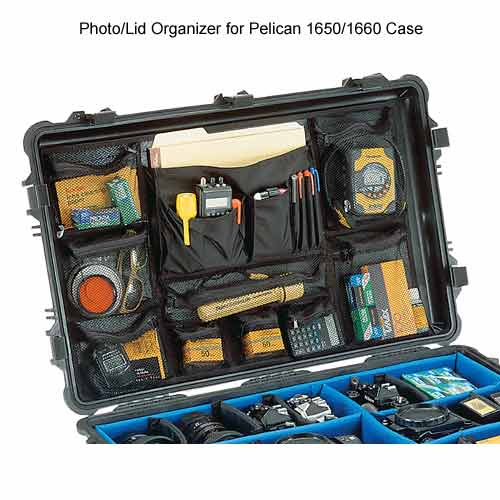 photo and lid organizer for Pelican 1650 and 1660 Pelican� Large Protector Cases icon