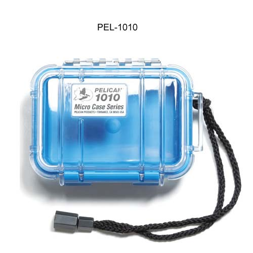 Pelican Micro Case 1010 Series in blue with clear cover icon