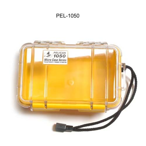 Pelican Micro Case 1050 Series in yellow with clear cover icon