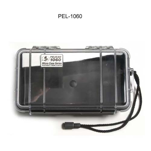 Pelican Micro Case 1060 Series in black with clear cover icon