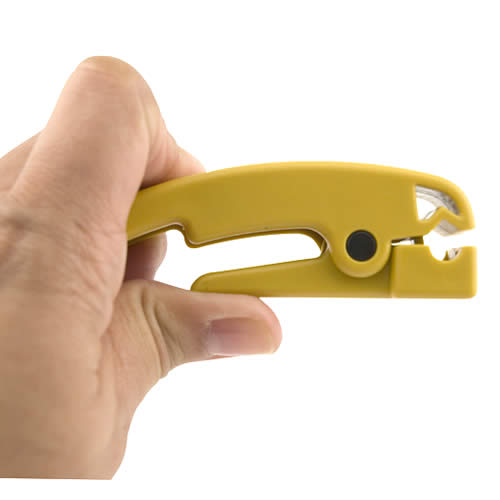 platinum Tools Cat 5 Cable Jacket Stripper in hand icon
