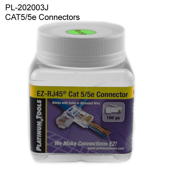 jar of platinum tools cat5e connectors - icon