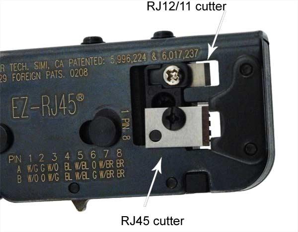 close up of Platimun Tools EZ-RJ45 Crimper cutters icon