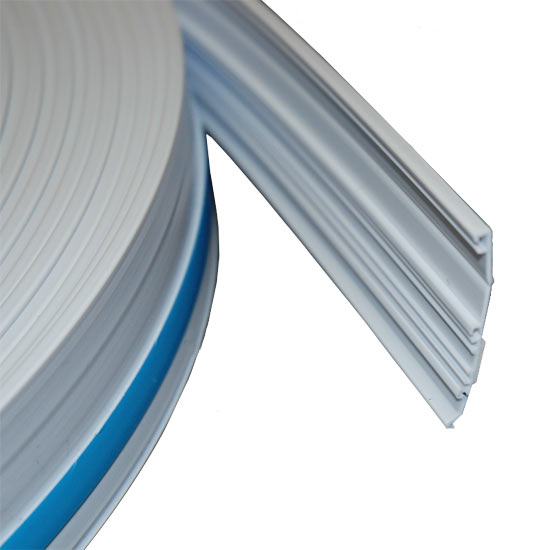 close up of adhesive strip for raceway on a roll in white icon