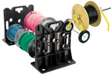 cable spool stands, caddies