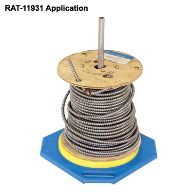 side view of rack-a-tiers standard tug wise reel management system application icon